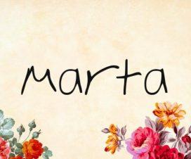 Significado del nombre Marta