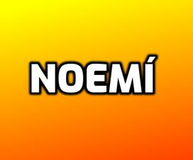 Significado del nombre Noemí