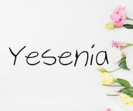 Significado del nombre Yesenia