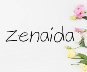nombre Zenaida