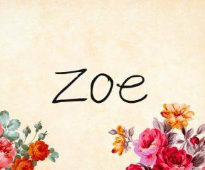 nombre Zoe