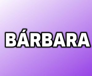nombre Bárbara