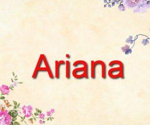 nombre Ariana