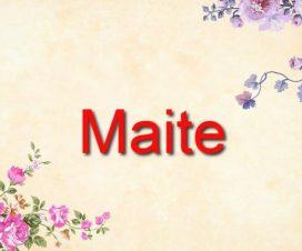 Origen del nombre Maite