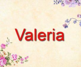 Origen del nombre Valeria