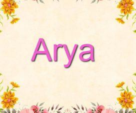 Significado del nombre Arya
