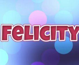 Significado del nombre Felicity