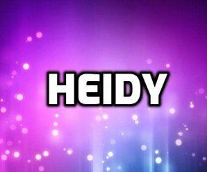 nombre Heidy