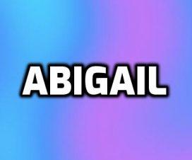 Nombre Abigail