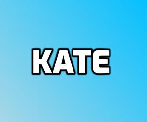 nombre Kate