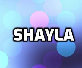 Origen del nombre Shayla
